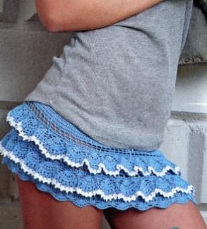 вязание крючком юбки схемы