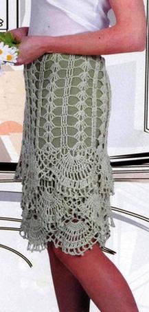 вязание крючком юбок схемы