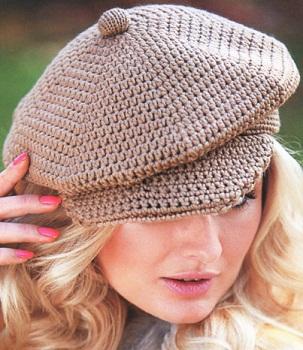 вязание крючком шапки схемы