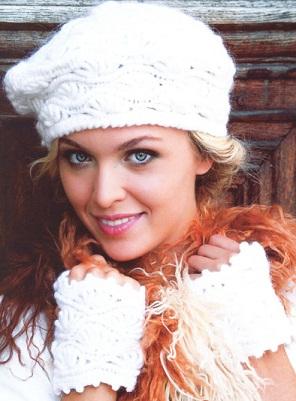 вязание крючком шапки зимние