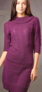 вязание женских платьев спицами
