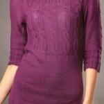 10 идей платьев: женские вязаные платья спицами