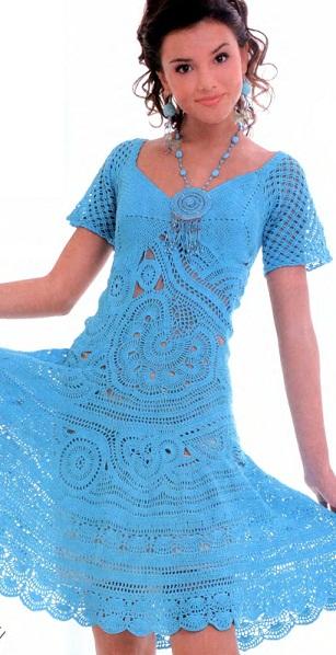вязанные платья фото летние