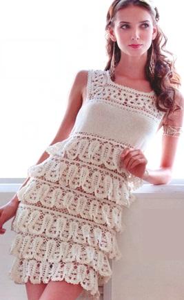 вязанные платья крючком фото