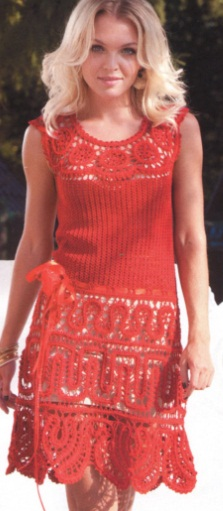 вязанные платья схемы фото