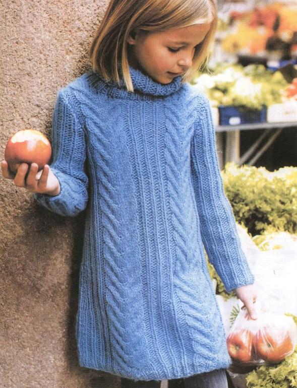 вязаные платья для девочек с описанием