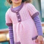 5 фасонов детских платьиц: вязаные платья для девочек