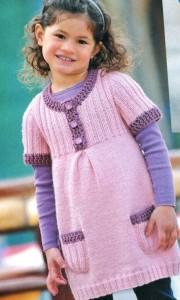 вязаные платья для девочек схемы