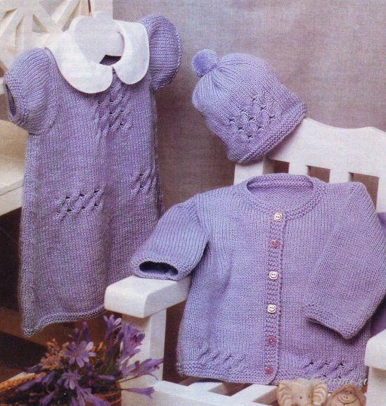 вязаные платья для девочек со схемами