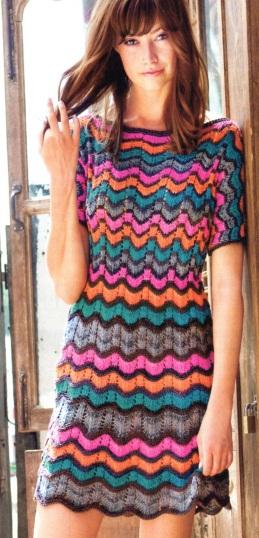 женские вязаные платья схемы