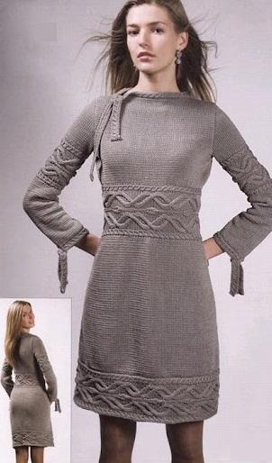 женские вязаные платья