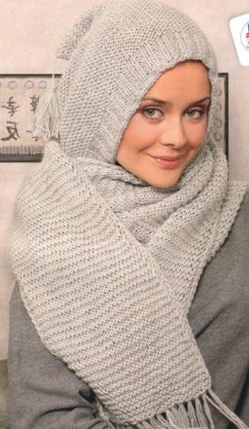 Описание вязаного шарфика: 1,