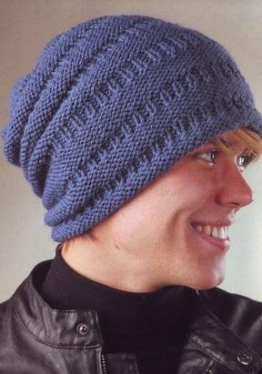 мужские вязаные шапки фото