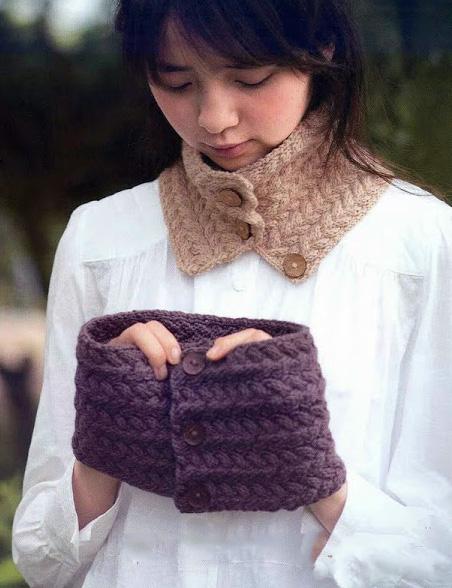 шарф хомут вязание