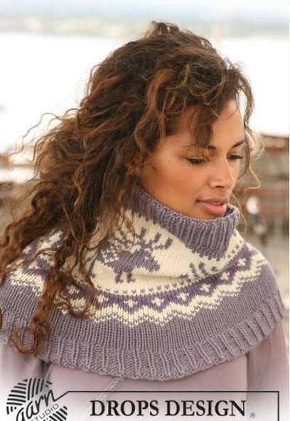 схемы вязания спицами шарфов