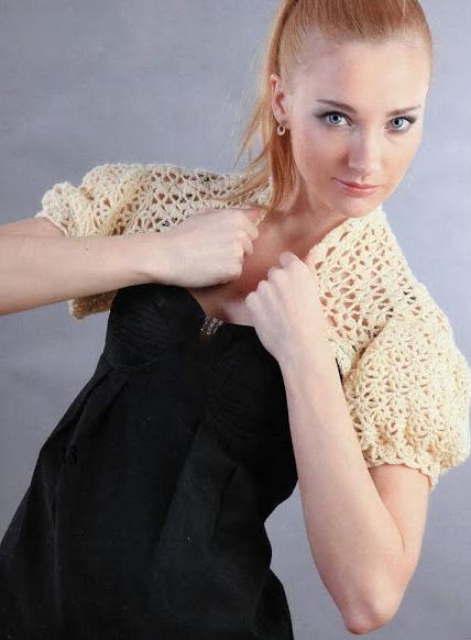 вязание болеро крючком схемы