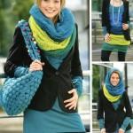 Вязание шарфиков спицами в 5 вариантах