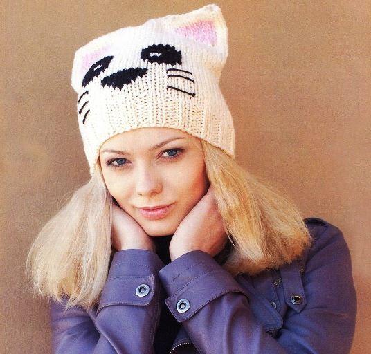 Описание вязания шапки-кошки,