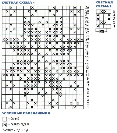 Схемы для вязания варежек спицами 54