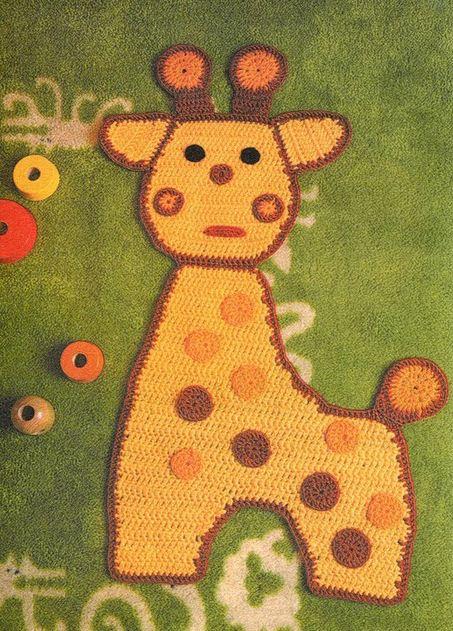 детские вязаные коврики крючком