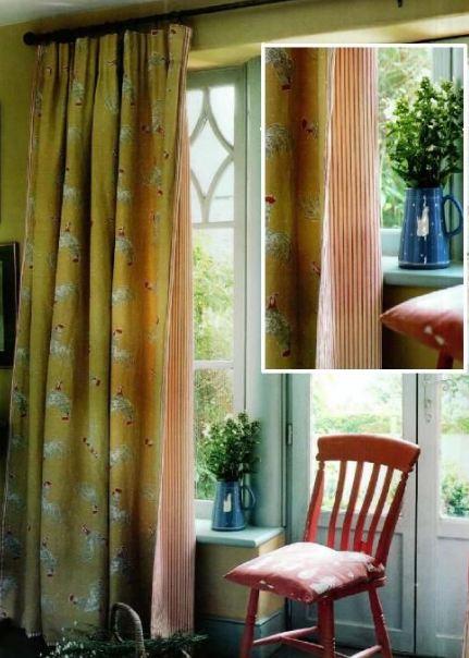 как сшить двойные шторы