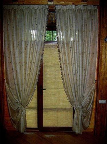 как сшить простые шторы