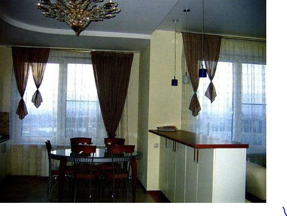 как сшить шторы на кухню