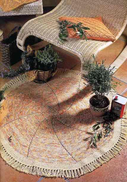 вязаные бабушкины коврики