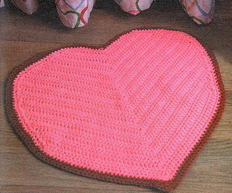 вязаные коврики крючком для ванной