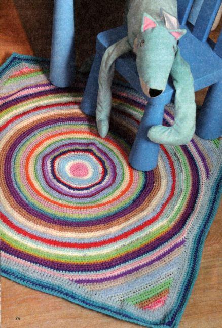 вязаные коврики крючком своими руками