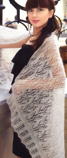 вязание спицами палантины.