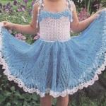 5 моделей вязаных платьев для девочек