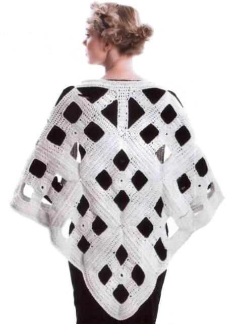 филейного вязания шали