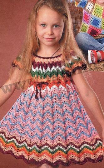 вязание летних крючком платьев