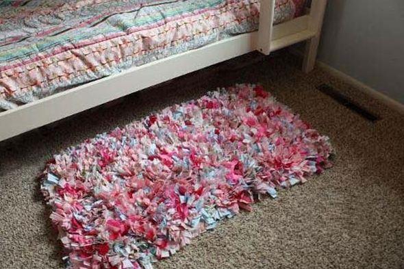 вязаные коврики из лоскутков