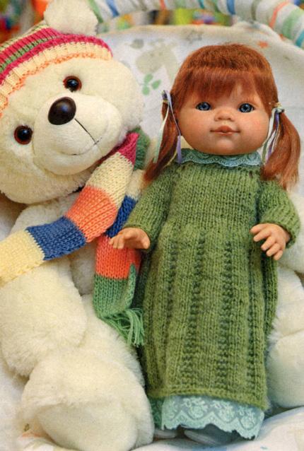 для куклы спицами схема