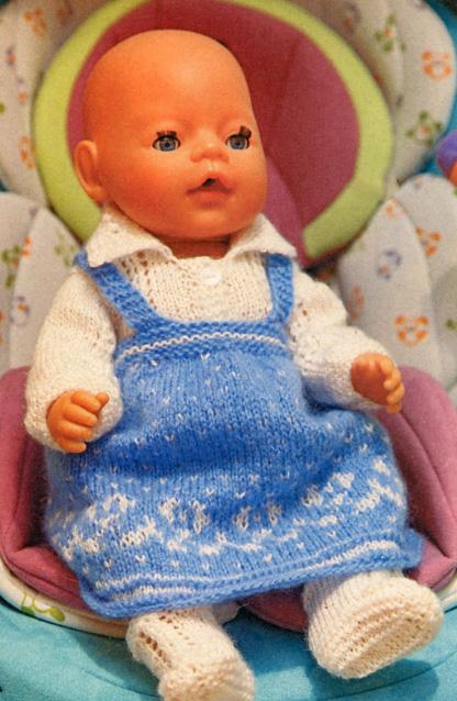 Как вязать одежду для куклы спицами для начинающих