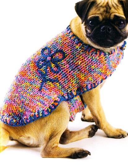 вязание для собак крючком и спицами схемы и описания