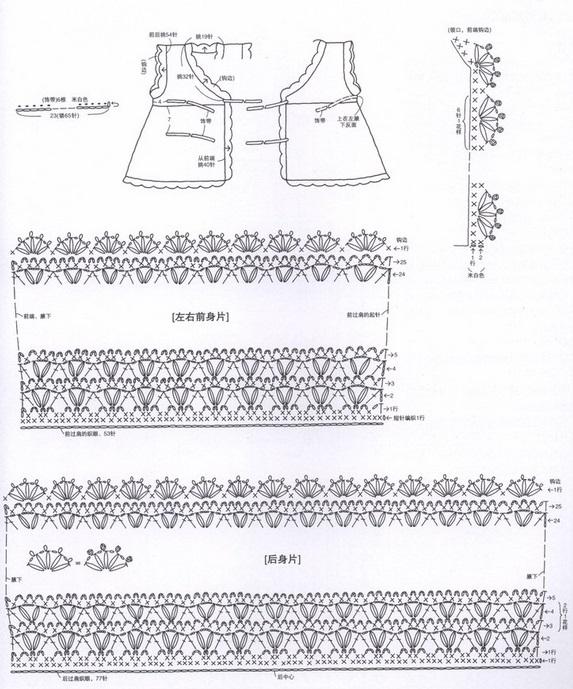 вязаное платье крючком для девочки 2