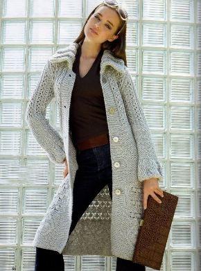 вязаное летнее пальто