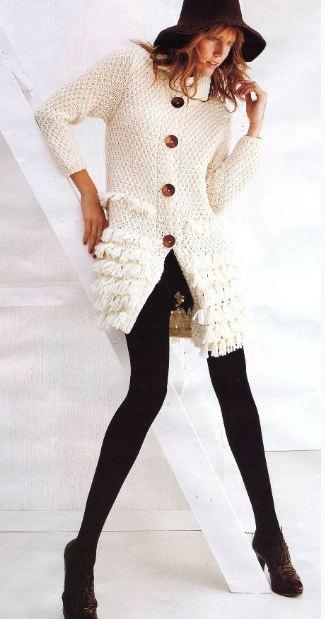 вязаное пальто схемы