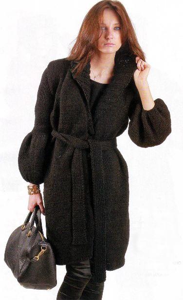 вязаные пальто из мохера