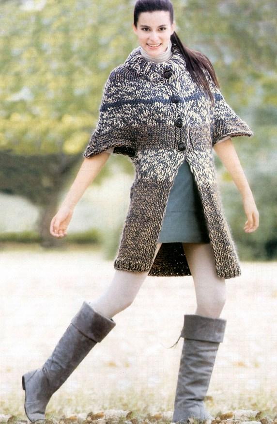 вязаные женские пальто
