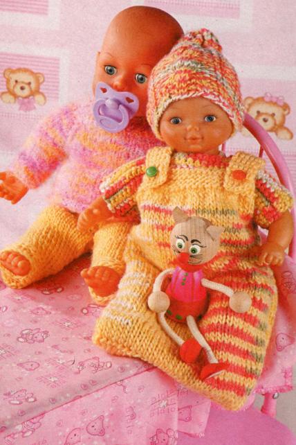Вяжем одежду для кукол: схемы