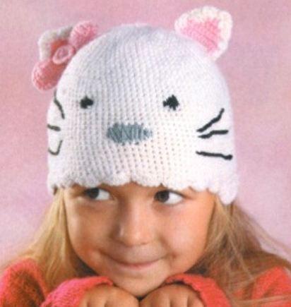 детские шапки вязаные спицами