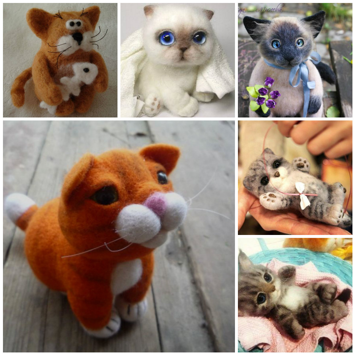 Валяние из шерсти для начинающих: валяние милых Котиков.