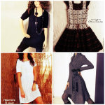 Вязаные платья: фото и схемы