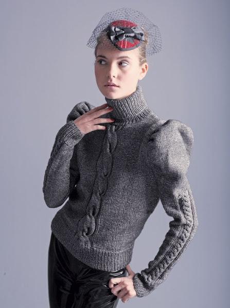 красивые вязаные свитера для девушек