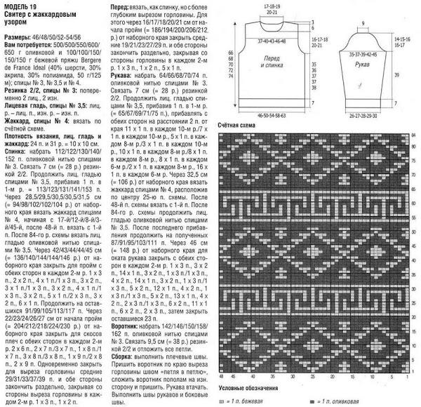 Вязание на спицах узоры на свитерах 863
