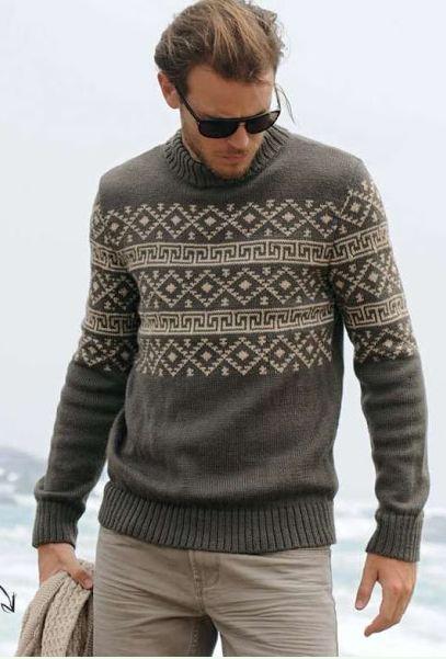свитера мужские вязаные спицами
